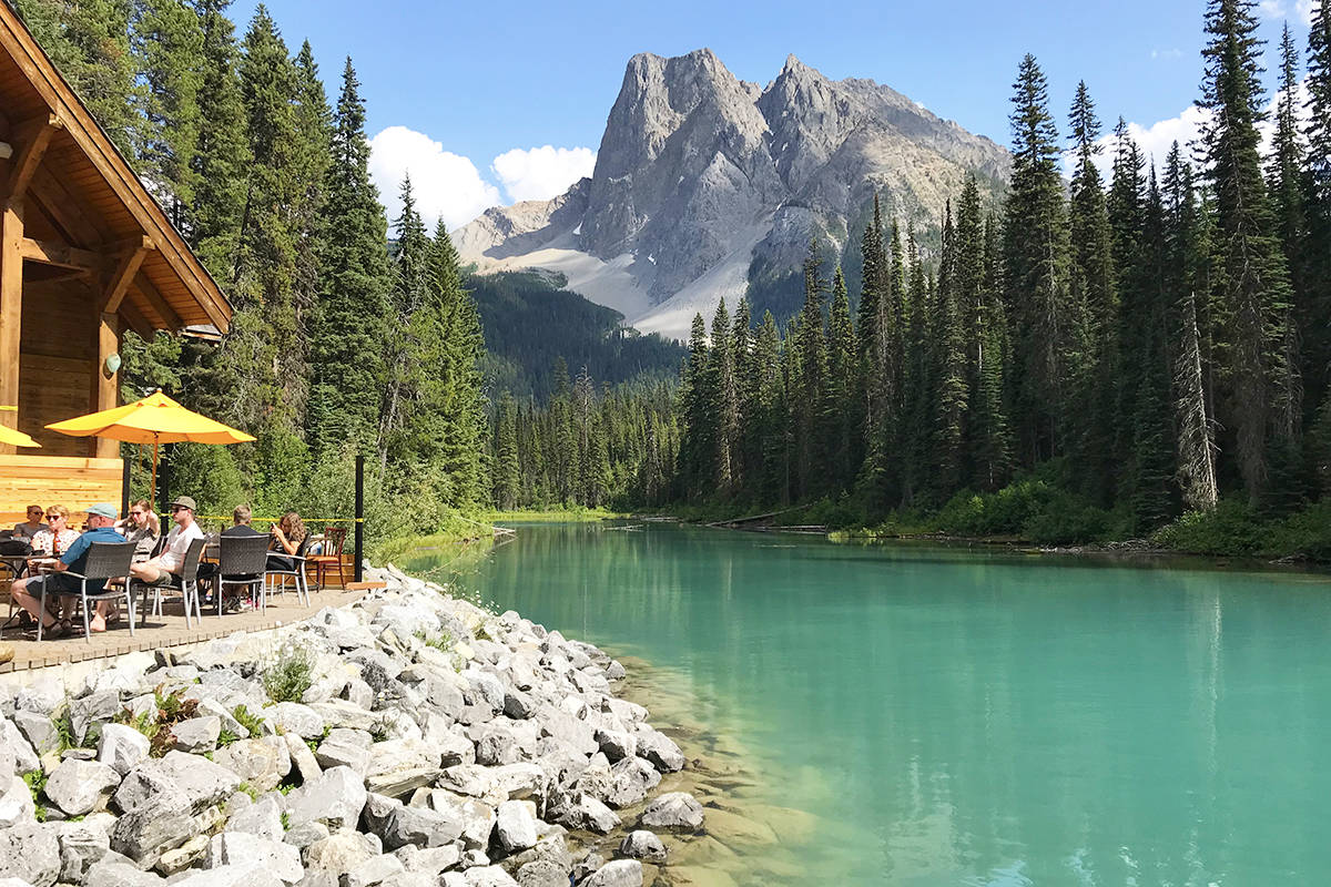 Emerald Lake's vibrant colour comes from sunlight reflecting off of the mixture of calcium carbonate and clay on the lake bed. Carleen Nugent photo.